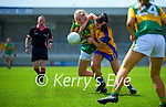 Caoimhe Evans, Kerry in action against Orla Devitt, Clare in the Lidl Ladies National Football League Division 2A Round 2 at Austin Stack Park, Tralee on Sunday.