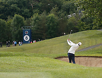 4th July 2021; Mount Juliet Golf Club, Kilkenny, Ireland; Dubai Duty Free Irish Open Golf, Day Four; Rory Mcilroy of Northern Ireland takes his second shot from the 8th fairway bunker