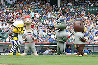 August 9, 2009:  Zooperstars perform during a game at Wrigley Field in Chicago, IL.  Iowa is the Pacific Coast League Triple-A affiliate of the Chicago Cubs.  Photo By Mike Janes/Four Seam Images
