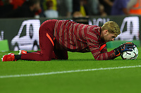 21st September 2021; Carrow Road, Norwich, England; EFL Cup Footballl Norwich City versus Liverpool; Caoimhin Kelleher of Liverpool during the warm up