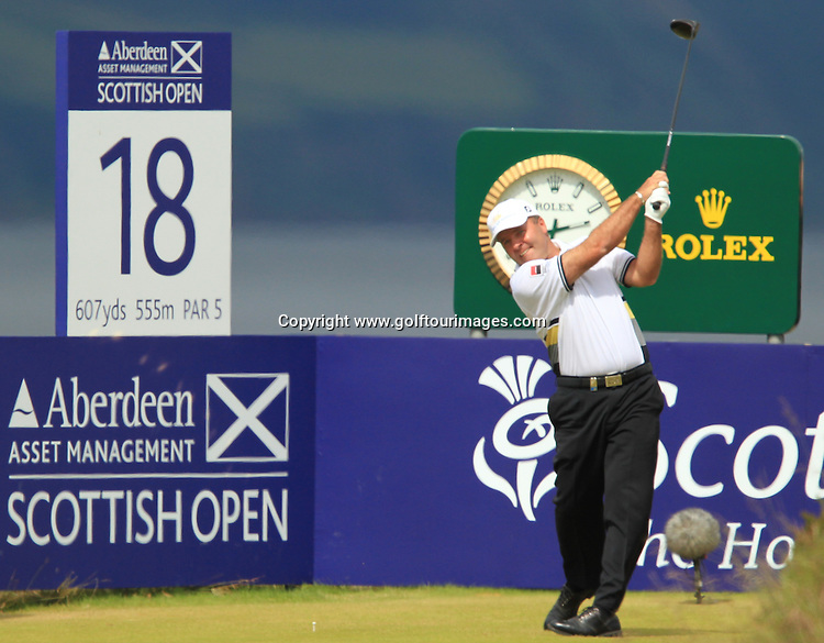 Robert Coles (ENG) during the third round of the 2012 Aberdeen Asset Management Scottish Open being played over the links at Castle Stuart, Inverness, Scotland from 12th to 15th July 2012:  Stuart Adams www.golftourimages.com:14th July 2012