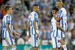 CD Leganes' Raul Garcia, Youssef En-Nesyri, Jonathan Silva and Nabil El Zhar Pellegrino celebrate the victory in La Liga match. September 26,2018. (ALTERPHOTOS/Acero)