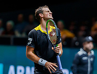 Rotterdam, The Netherlands, 9 Februari 2020, ABNAMRO World Tennis Tournament, Ahoy,  Vasek Pospisil (CAN) outs his frustration<br /> Photo: www.tennisimages.com
