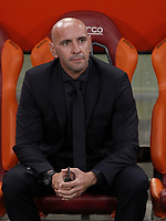 Calcio, Serie A: Roma, stadio Olimpico, 26 agosto, 2017.<br /> AS Roma's sports director Jose Ramon Rodriguez Monchi, waits for the start of the Italian Serie A football match between Roma and Inter at Rome's Olympic stadium, AUGUST 26, 2017.<br /> UPDATE IMAGES PRESS/Isabella Bonotto