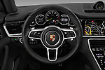 Car pictures of steering wheel view of a 2018 Porsche Panamera 4 E-Hybrid 5 Door Hatchback