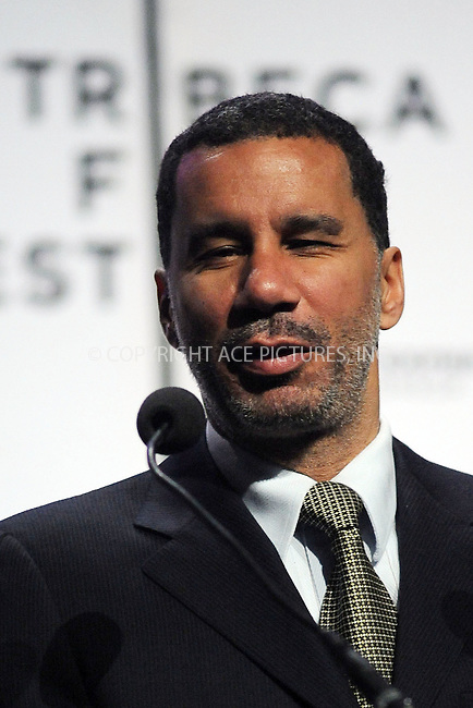 WWW.ACEPIXS.COM . . . . . ....April 23 2008, New York City....Governor of New York David Paterson at the opening press conference for the 2008 Tribeca Film Festival at the BMCC Tribeca PAC in downtown Manhattan....Please byline: KRISTIN CALLAHAN - ACEPIXS.COM.. . . . . . ..Ace Pictures, Inc:  ..(646) 769 0430..e-mail: info@acepixs.com..web: http://www.acepixs.com