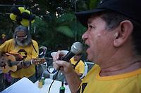Nascidos na Serra do Navio no Amapá, parentes e amigos se reunem para confraternizar e discutir o tombamento da cidade deixada pela mineradora ICOMI, após o esgotamento da mina.<br /> Belém, Pará, Brasil.<br /> Foto Paulo Santos<br /> 4/07/2015