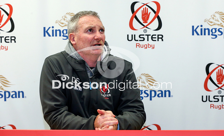 Tuesday 5th November 2019 | Ulster Rugby Match Briefing<br /> <br /> Ulster Rugby Skills Coach Daniel Soper at the Ulster Rugby Match Briefing held at Kingspan Stadium, Belfast, ahead of Ulster's away fixture against Munster at Thomond Park this Saturday. Photo - John Dickson / DICKSONDIGITAL. <br /> <br /> Photo by John Dickson / DICKSONDIGITAL