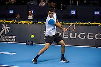 VALENCIA, SPAIN - OCTOBER 28: Bernard Tomic during Valencia Open Tennis 2015 on October 28, 2015 in Valencia , Spain