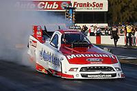 Feb. 17, 2013; Pomona, CA, USA; NHRA funny car driver Bob Tasca III during the Winternationals at Auto Club Raceway at Pomona. Mandatory Credit: Mark J. Rebilas-