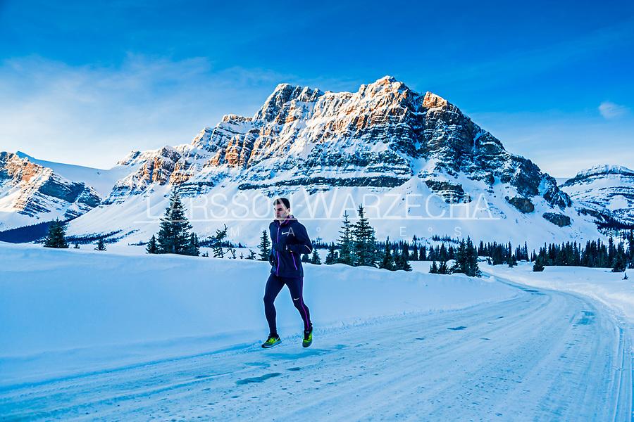 Running in the Banff National Park, Alberta, Canada
