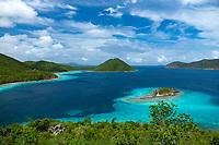 Leinster Bay from the Murphy Great House<br /> Virgin Islands National Park<br /> St. John<br /> US Virgin Islands