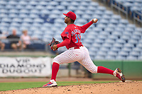 Clearwater Threshers pitcher Carlos A Francisco (35) during a game against the Fort Myers Mighty Mussels on July 29, 2021 at BayCare Ballpark in Clearwater, Florida.  (Mike Janes/Four Seam Images)