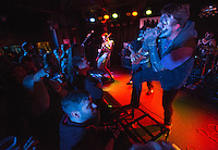 Frontman Corey Hagedon does his best juggalo impression as City in Ashes performs during a pre-halloween show at Chilkoot Charlie's.