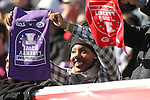 December 30, 2016: A TCU fan in the 1st half of the AutoZone Liberty Bowl with the Georgia Bulldogs vs TCU Horned Frogs at Liberty Bowl Memorial Stadium in Memphis, Tennessee. ©Justin Manning/Eclipse Sportswire/Cal Sport Media