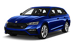 2020 Skoda Octavia-Combi RS 5 Door Wagon Angular Front automotive stock photos of front three quarter view