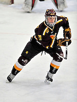 2 January 2009: Ferris State Bulldogs' right wing forward Justin Lewandowski, a Senior from Naperville, IL, in action against the St. Lawrence Saints during the first game of the 2009 Catamount Cup Ice Hockey Tournament hosted by the University of Vermont at Gutterson Fieldhouse in Burlington, Vermont. The Saints defeated the Bulldogs 5-4 to move onto the championship game against the University of Vermont Catamounts...Mandatory Photo Credit: Ed Wolfstein Photo