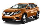 2018 Nissan Murano Platinum 5 Door SUV Angular Front stock photos of front three quarter view