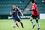 Rufino Segovia of SC Kitchee (l) in action during the 2017 Lunar New Year Cup match between SC Kitchee (HKG) vs Muangthong United (THA) on January 28, 2017 in Hong Kong, Hong Kong. Photo by Marcio Rodrigo Machado/Power Sport Images