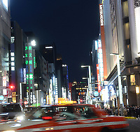 The up-market shopping district,  Ginza, Tokyo, Japan.<br /> April-2014