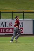 AZL Diamondbacks left fielder Didimo Bracho (9) on defense against the AZL Cubs on August 11, 2017 at Sloan Park in Mesa, Arizona. AZL Cubs defeated the AZL Diamondbacks 7-3. (Zachary Lucy/Four Seam Images)