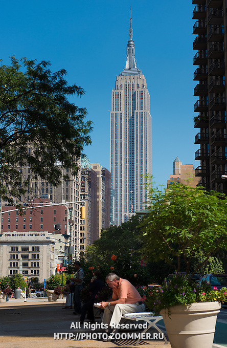 Empire State Building seen from Worth Square, New York