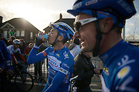post-race hydration for Simone Antonini (ITA/Wanty-Groupe Gobert)<br /> <br /> 67th Kuurne-Brussels-Kuurne 2015