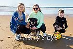 Enjoying a stroll in Ballybunion on Sunday, l to r: Aoife, Caoimhe and Oisin Flavin with Bailey the dog.