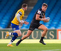 Exeter Chiefs' Ollie Devoto in action during todays match<br /> <br /> Photographer Bob Bradford/CameraSport<br /> <br /> Gallagher Premiership Semi-Final - Exeter Chiefs v Bath Rugby - Saturday 10th October 2020 - Sandy Park - Exeter<br /> <br /> World Copyright © 2020 CameraSport. All rights reserved. 43 Linden Ave. Countesthorpe. Leicester. England. LE8 5PG - Tel: +44 (0) 116 277 4147 - admin@camerasport.com - www.camerasport.com