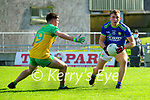 Dara Moynihan, Kerry in action against Andrew McClean, Donegal during the Allianz Football League Division 1 Round 7 match between Kerry and Donegal at Austin Stack Park in Tralee on Saturday.