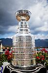 September 27 2014:The Stanley  Cup on display at Santa Anita Park in Arcadia CA. Alex Evers/ESW/CSM
