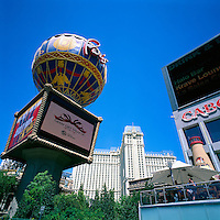 Las Vegas, Nevada, USA - Paris Las Vegas Hotel & Casino along The Strip (Las Vegas Boulevard) - Montgolfier Balloon Replica