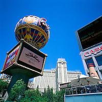 Las Vegas, Nevada, USA - Paris Las Vegas Hotel & Casino along The Strip (Las Vegas Boulevard) - Montgolfier Balloon Replica