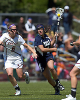 Yale University attacker Kerri Fleishhacker (4). Boston College defeated Yale University, 16-5, at Newton Campus Field, April 28, 2012.