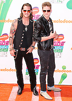WESTWOOD, LOS ANGELES, CA, USA - JULY 17: Brian Kelley, Tyler Hubbard, Florida Georgia Line at the Nickelodeon Kids' Choice Sports Awards 2014 held at UCLA's Pauley Pavilion on July 17, 2014 in Westwood, Los Angeles, California, United States. (Photo by Xavier Collin/Celebrity Monitor)