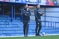 Portsmouth Manager Danny Cowley  left during Portsmouth vs Rochdale, Sky Bet EFL League 1 Football at Fratton Park on 2nd April 2021