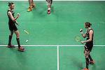 Kamilla Rytter Juhl and Christinna Pedersen of Denmark competes against Bao Yixin and Yu Xiaohan of China during their Women's Doubles Semi-Final of YONEX-SUNRISE Hong Kong Open Badminton Championships 2016 at the Hong Kong Coliseum on 26 November 2016 in Hong Kong, China. Photo by Marcio Rodrigo Machado / Power Sport Images