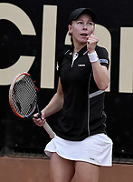 BOGOTA -COLOMBIA. 13-04-2017. Johanna Larsson (SWE) durante juego contra Sara Errani (ITA) de cuartos de final del Claro Open Colsanitas WTA 2017 jugado en el Club Los Lagartos en Bogota. /  Johanna Larsson (SWE) during match against Sara Errani (ITA) for the quater final of Claro Open Colsanitas WTA 2017 played at Club Los Lagartos in Bogota city. Photo: VizzorImage/ Gabriel Aponte / Staff