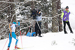 MARTELL-VAL MARTELLO, ITALY - FEBRUARY 02: Camera crew during the Women 7.5 km Sprint at the IBU Cup Biathlon 6 on February 02, 2013 in Martell-Val Martello, Italy. (Photo by Dirk Markgraf)