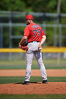 Boston Red Sox pitcher Nick Duron (79) during a Minor League Spring Training game against the Tampa Bay Rays on March 25, 2019 at the Charlotte County Sports Complex in Port Charlotte, Florida.  (Mike Janes/Four Seam Images)