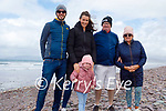 Enjoying a stroll in Rossbeigh on Sunday, l to r: Eoin, Marie Louise, Holly, Brendan and Marie Quain.