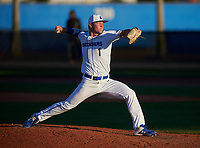 IMG Academy Ascenders pitcher Keegan Allen (1) during a game against the Victory Charter School Knights on February 28, 2020 at IMG Academy in Bradenton, Florida.  (Mike Janes/Four Seam Images)