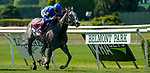 June 5, 2021: Althiqa, #8, ridden by jockey Mike Smith, wins the Longines Just a Game Stakes on Belmont Stakes Day at the Belmont Stakes Festival at Belmont Park in Elmont, New York. Dan Heary/Eclipse Sportswire/CSM