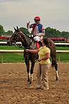23 May 2009 : Calvin Borel aboard the the eight year old gelding Brass Hat after winning the G3 Louisville Handicap at Churchill Downs in Louisville, Kentucky.