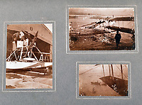 BNPS.co.uk (01202 558833)<br /> Pic: C&T/BNPS<br /> <br /> On returning to Britain GG Speight was based as an RNAS Observer in Cornwall.<br /> <br /> Never before seen photos of the disastrous Gallipoli campaign have come to light over a century later.<br /> <br /> The fascinating snaps were taken by Sub Lieutenant Gilbert Speight who served in the Royal Naval Air Service in World War One.<br /> <br /> They feature in his photo album which covers his eventful war, including a later stint in Egypt.<br /> <br /> There are dramatic photos of the Allies landing at X Beach, as well as sobering images of a mass funeral following the death of 17 Brits. Another harrowing image shows bodies lined up in a mass grave.<br /> <br /> The album, which also shows troops during rare moments of relaxation away from the heat of battle, has emerged for sale with C & T Auctions, of Ashford, Kent. It is expected to fetch £1,500.