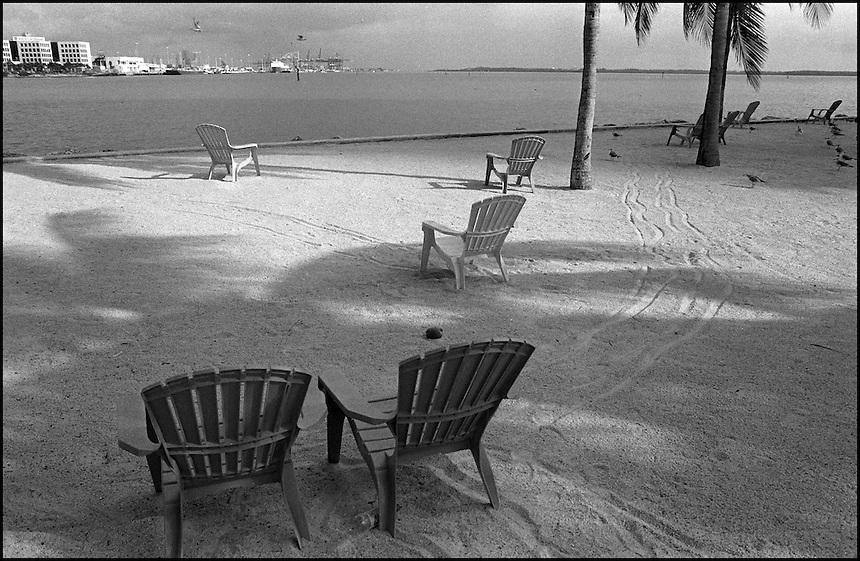"From ""Miami in Black and White"" series.<br /> Bayside Park, Miami, FL"