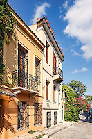 The picturesque buildings of Plaka in Athens, Greece