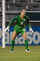 USA's Hope Solo during a game against Finland. The USA women's national team defeated Finland 4-0 at the Home Depot Center in Carson, CA, on August 25, 2007. (Photo by Matt A. Brown/ISIphotos.com)