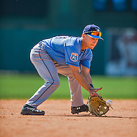 14 March 2016: Tampa Bay Rays infielder Andrew Velazquez, ranked the 29th Top Prospect in the Rays organization for 2016 by MLB, warms up prior to a pre-season Spring Training game against the Atlanta Braves at Champion Stadium in the ESPN Wide World of Sports Complex in Kissimmee, Florida. The Ray fell to the Braves 5-0 in Grapefruit League play. Mandatory Credit: Ed Wolfstein Photo *** RAW (NEF) Image File Available ***
