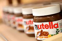 Jars of Nutella spread.